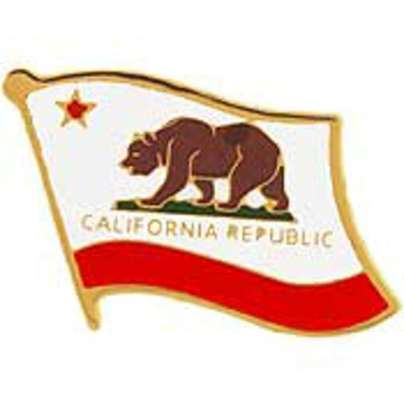 EagleEmblems P09905 PIN-California (Flag) (1'')