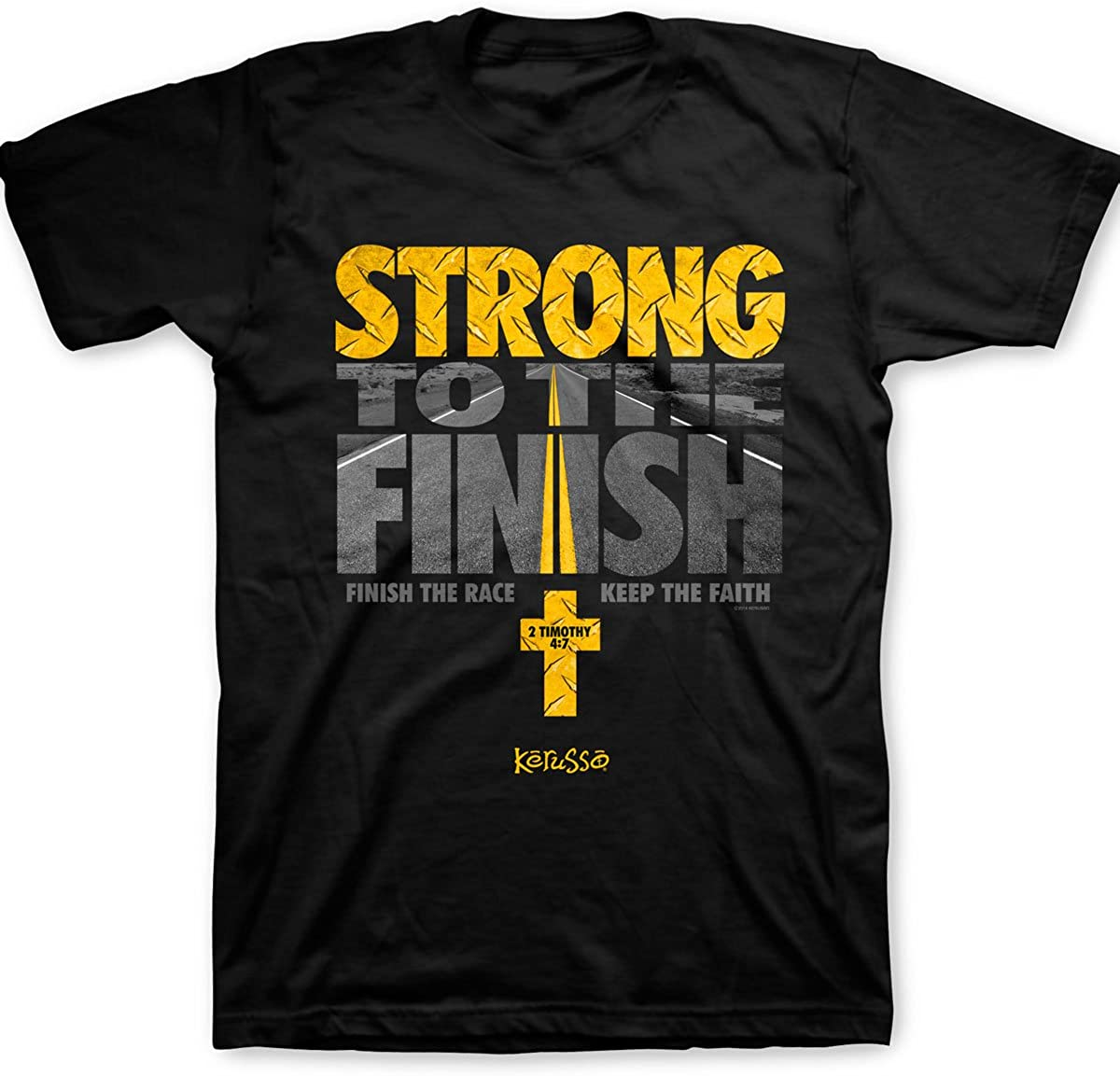 Kerusso Men's Strong to The - Max 65% OFF Seasonal Wrap Introduction Black Finish T-Shirt