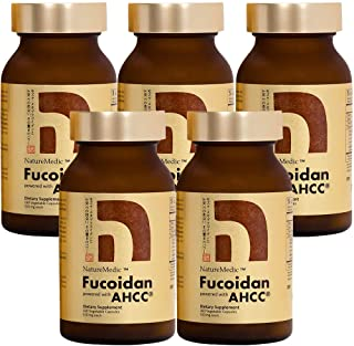 NatureMedic Fucoidan Powered with AHCC® Brown Seaweed Immunity Supplement with High Purity Organic Mekabu Mozuku Agaricus ...