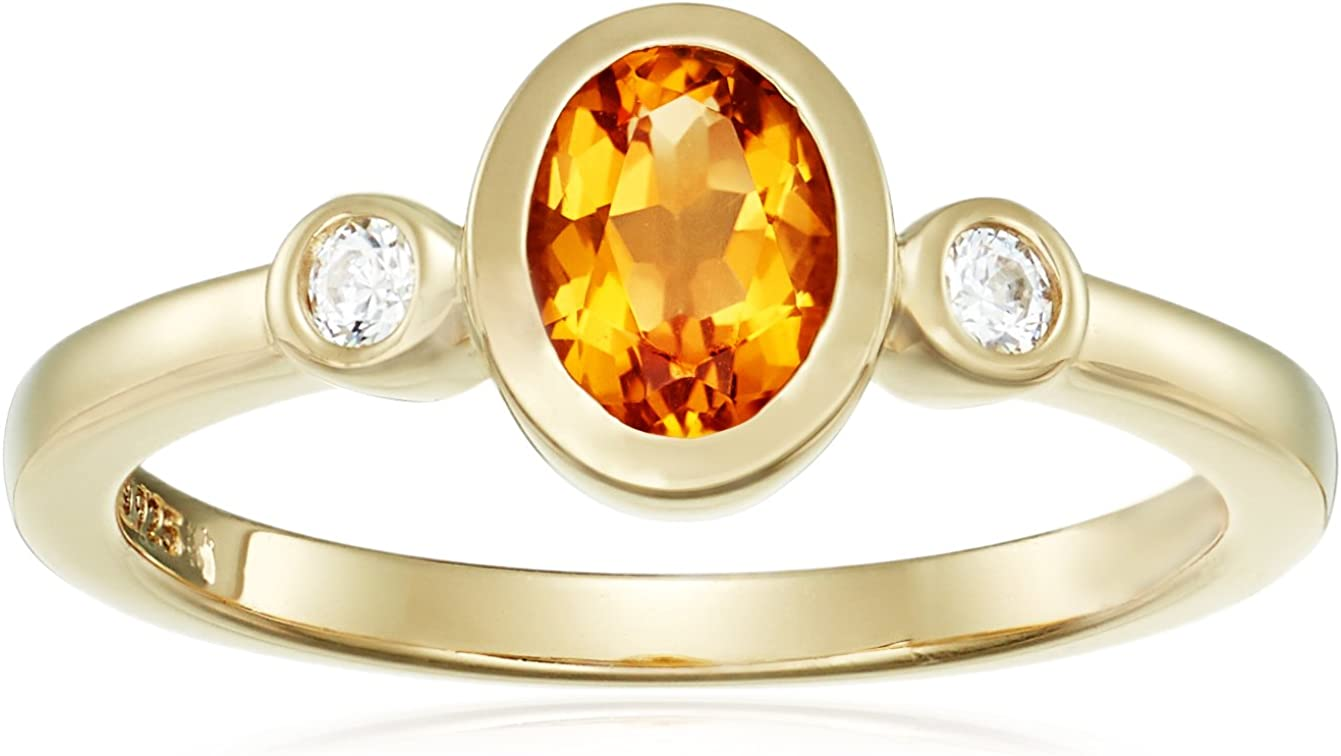 Amazon Collection Yellow-Gold-Plated Omaha Mall Sterling Gemstone Outstanding Silver an