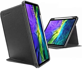 tomtoc Vertical Case for iPad Pro 11 2020 & 2018, Protective Case with Pencil Holder, Support iPad Pencil Wireless Chargin...