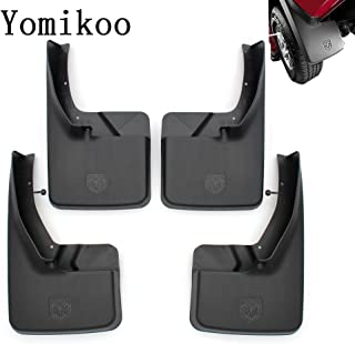 Yomikoo Mud flaps,Deluxe Molded Splash Guards Front and Rear Mud Fenders Ram mud flaps OEM For 2010-2016 Dodge Ram 1500 2500 3500 Full Set 4pcs With logo