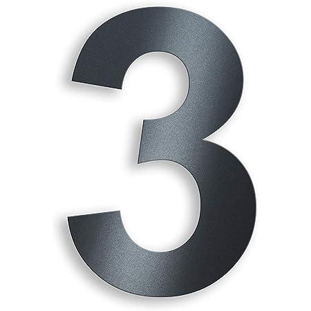 Ziffer 5 Nanly Moderne Hausnummer aus Edelstahl,in Anthrazit RAL 7016,Ziffern /& Buchstaben,H/öhe:20.5cm//8 Zoll
