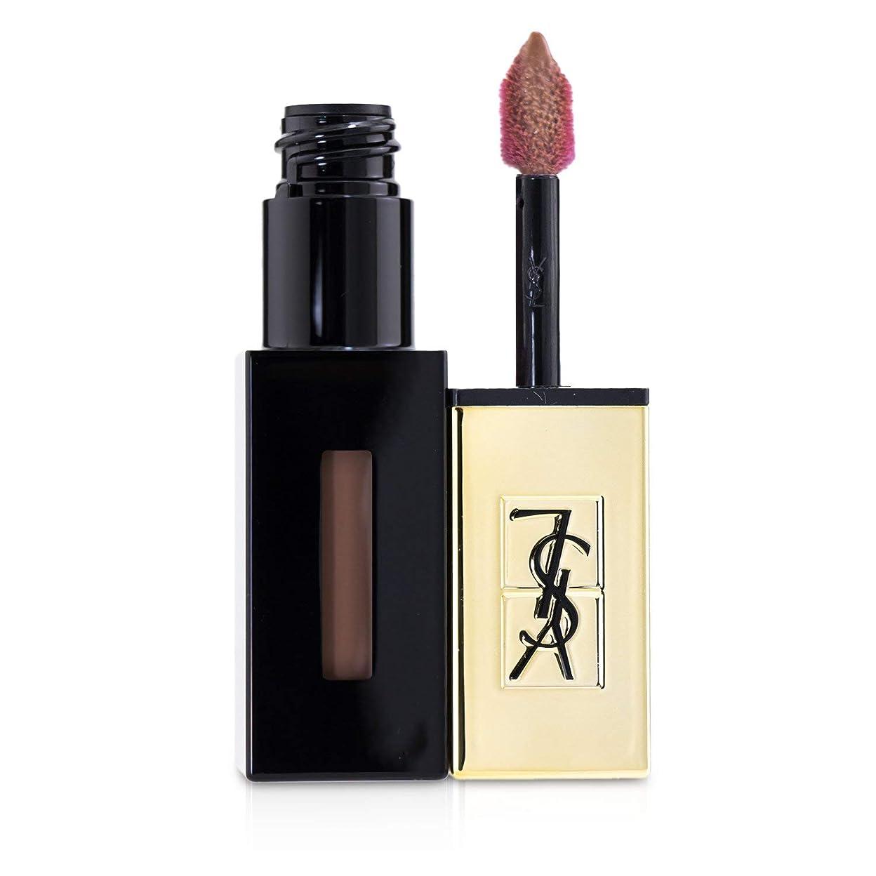 側溝アンタゴニスト不毛イヴ?サンローラン Rouge Pur Couture Vernis a Levres Glossy Stain - # 55 Beige Estampe 6ml/0.2oz並行輸入品