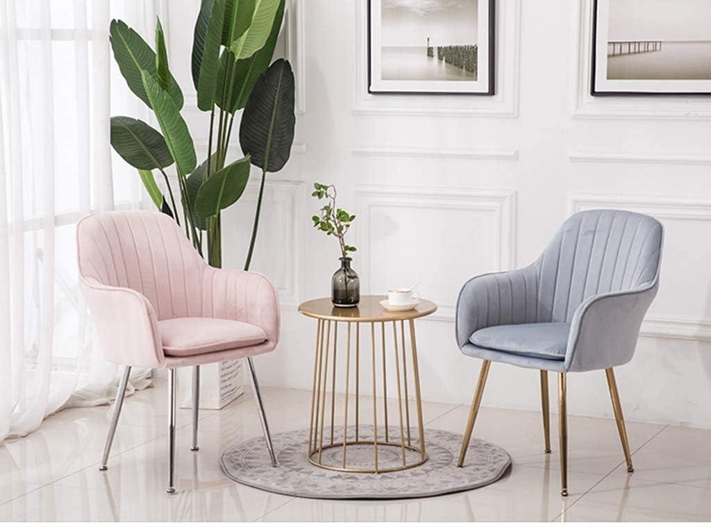 GSN Flanelle Tub Chair, Chaise salle à manger moderne Meubles de loisirs, Coussin amovible et lavable, de charge élevée en titane d'or Leg fauteuils (Color : Blue) Gray