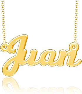 Personalized Last Name Necklace Nameplate Chain Script Letter Pendant