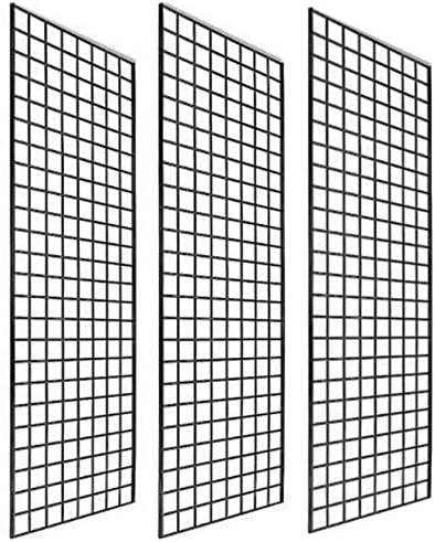 Only Garment Racks #1900B (Box of 3) Grid Panel for Retail Display - Perfect Metal Grid for Any Retail Display, 2'x 6...