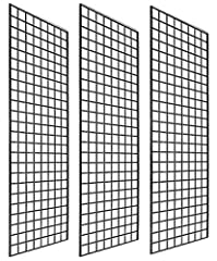 Sturdy and durable. Black grid panels are made of heavy duty steel. The strong structure makes the panels durable enough to hold heavy items such as clothing, sports equipment, house wares Easy to assemble and break d grid panels are lightweight with...
