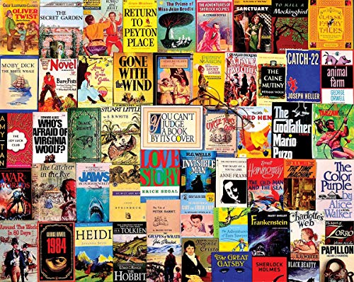 TO DoDoUp Puzzle de 1000 Piezas 'Best Sellers' Vintage Book Covers Collage Jigsaw Puzzle