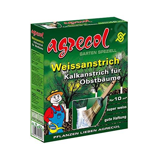 Premium Weißanstrich Kalkanstrich Baumanstrich für Obstbäume schützt vor Frostschäden, Pilzen und Schädlingsbefall und pflegt die Baumrinde