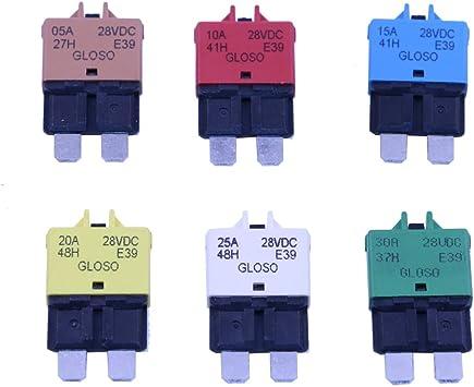 T Tocas Manueller Reset Low Profile Atc 5a 10a 15a 20a 25a 30a Leistungsschalter 12v 28vdc Auto