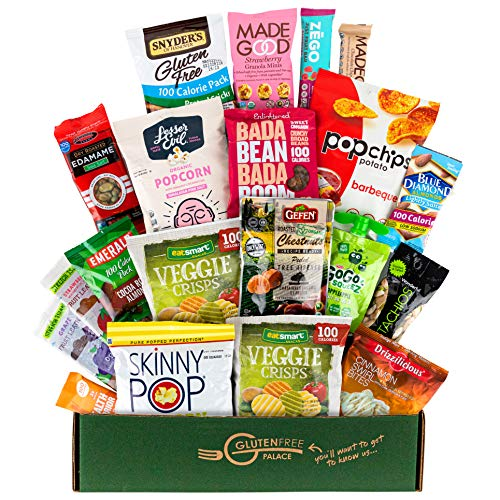 100 CALORIE Snack Packs Care Package | HOLIDAY GIFT BASKETS | Vegan, Gluten Free Dairy Free Snacks, Bars & Nuts all 100 calories or Less [20 count] Low Calorie Diet Snacks | Snack Food Gifts