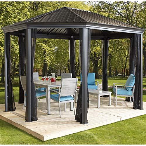 Sojag Aluminium Pavillon Überdachung Gazebo Komodo 12x18 // 363x546 cm (BxH) // Sommer-Pavillon und Gartenlaube mit Hard-Top Dach