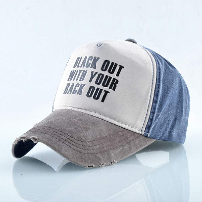 WYKDA Washed Denim Baseball Cap Men Women Soft Cotton Dad Hats Letter Trucker Bones Snapback Hip Hop Casquette Breathable Visor Hat