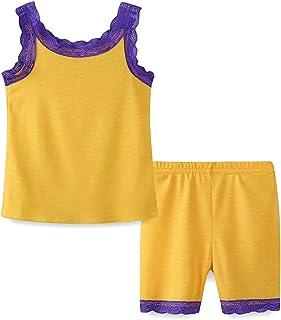 LittleSpring 女児 パジャマ ガールズ キャミソール ショーツ 二点セット キッズ服 リラックスウェア 子供 女の子