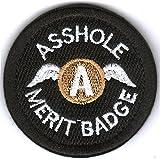 WZT Asshole Merit Badge Morale - Tactical Patch (Black)