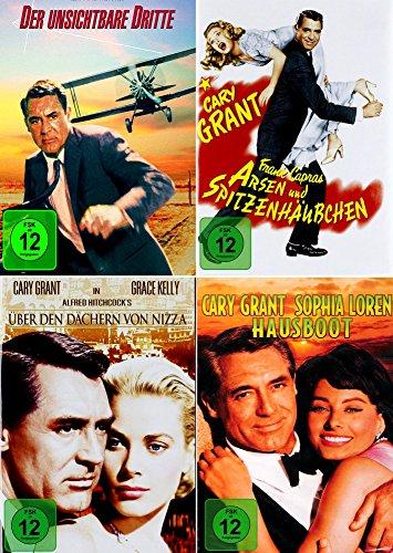 Cary Grant Collection   Arsen und Spitzenhäubchen + Der unsichtbare Dritte + Über den Dächern von Nizza + Hausboot [4er DVD-Set]