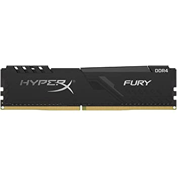 HyperX Fury 8GB 2666MHz DDR4 CL16 DIMM 1Rx8  Black XMP Desktop Memory Single Stick HX426C16FB3/8