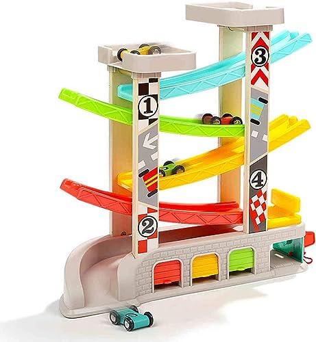 SLONG Kinder h ernen Spielzeugwagen Modell Slippery Track Auto Puzzle frühkindliche Bildung Set,Withgarage