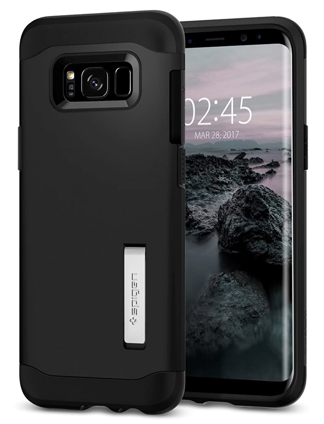 Spigen Slim Armor S8 Case with Air Cushion Technology and Hybrid Drop Protection for Samsung S8 (2017) - Black