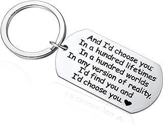 for Men, Anniversary Keychain for Husband, Boyfriend, Deployment, Groom's Gift for Him, Best Husband Gifts