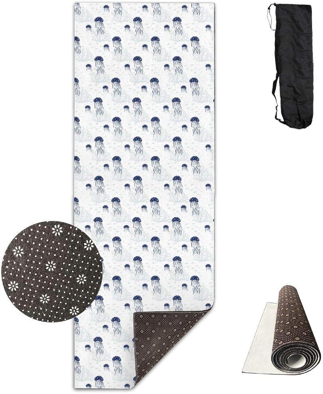 Jellyfish Cute Marine Yoga Mat Towel for Bikram Hot Yoga, Yoga and Pilates, Paddle Board Yoga, Sports, Exercise, Fitness Towel