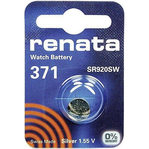 iChoose Limited Munt batterijpack | Lithium 3V | voor horloges, zaklampen, autosleutels, rekenmachines, camera's, etc. 371 (SR920SW) Renata