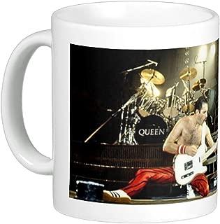 Queen Rock & Roll Hall of Fame Band Freddie Mercury on 11 Oz. Ceramic Coffee Mug