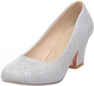 KemeKiss Women Slip On Wedding Pumps Dress Evening Shoes