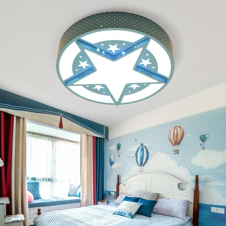 SHIEM LED-Deckenleuchte Schlafzimmer leuchtet Runde Kinderzimmer leuchtet Jungen und Mdchen Zimmer leuchtet einfaches modernes Kinderbett leuchtet warmen Durchmesser 50cm