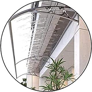 屋根庇 ひさし雨よけ 住宅用ひさし 透明なドアの窓のキャノピーの日除け、屋根のテラスキャノピーポーチレインカバー家庭用アプリケーション軒先 (Size : 100x80cm)