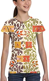 Girl T-Shirt tee Youth Fashion Tops Watercolor Scales Colorful