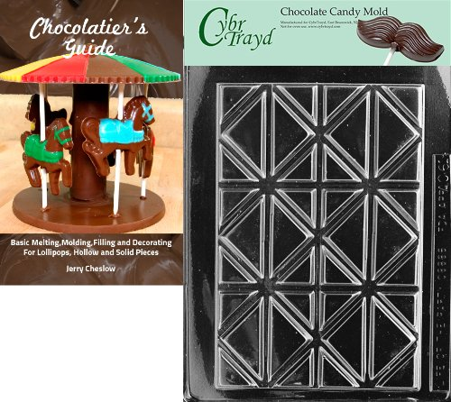Cybrtrayd Bk-AO061 Break Apart Bar All Occasions Chocolate Candy Mold