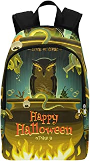 Halloween Witch Cooks Poison Casual Daypack Travel Bag College School Backpack for Mens and Women