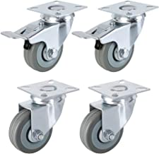 /max 100/kg per set Qty /mobili elettrodomestici e attrezzature Small Black ruote in plastica di Bulldog ruote/ 4/x 40/mm girevole ruote con freni/