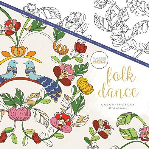 Kaisercraft Malbuch Folk Dance, Paper, Multicolour, 25 x 25 x 0.6 cm