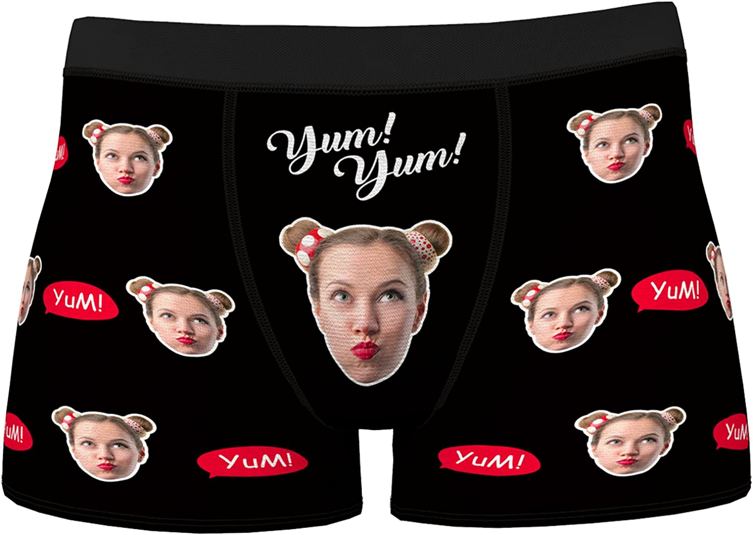 Custom Face Men's Boxer Novelty Briefs Underwear Shorts Underpants Printed with Photo Picture Gift for Men