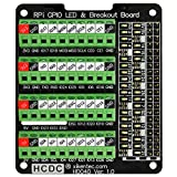RPi GPIO Status LED & Terminal Block Breakout Board HAT for Raspberry Pi A+ 3A+ B+ 2B 3B 3B+ 4B