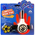 FiestaFive - Confetti High Five HandHeld Toy Shooter with 6 Refills (Black/White)