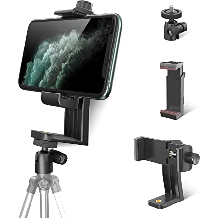 Vivitar Tripod Mount Dual Adapter Cell Phone Clipper Holder Vertical 360iPhone 7 6 5 iPod Note HTC One series Nexus7 6 5,and More Cell Phone Motorola Moto X G LG Plus Samsung Galaxy S7 S6 S5