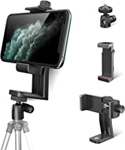 Phone Tripod Mount Adapter with 360° Swivel Ball Head + Smartphone Bracket Clamp, Rotatable Vertical Cellphone Holder Stan...