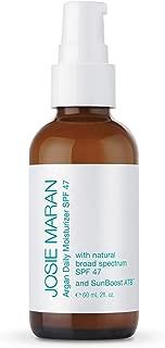 Josie Maran Argan Daily Moisturizer SPF 47 and Sunboost ATB - Lightweight, Quick-Absorbing Sunscreen Nourishes and Moisturizes Skin (60ml/2.0oz)