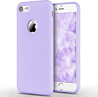 Winhoo Back Cover Case for iPhone 7 Silicon Soft TPU Slim Matte Flexible Shockproof Gel Rubber Ultra Thin Candy Back Cover Case - Purple