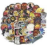 The Lion King Cartoon Laptop Stickers for Kids 50pcs Pack, Cool Vinyl Computer Waterproof Water Bottles Skateboard Luggage Decal Graffiti Patches Decal