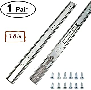 1 Pair Full Extension Drawer Slides 18 inch Heavy Duty Drawer Slides – LONTAN 4502S3-18 Soft Close Ball Bearing Side Mount Drawer Slides 100lb Capacity Drawer Runners