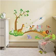 Zooarts Animaux Bus Scolaire Amovible Stickers muraux Art Decor Stickers en Vinyle Enfants Enfant Salle panoramique