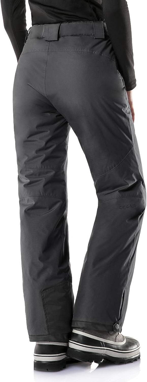 TSLA Womens Winter Snow Trousers Ripstop Snowboard Bottoms Waterproof Insulated Ski Pants