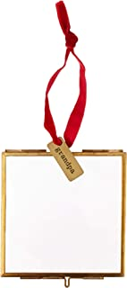 Mud Pie Hanging Glass Grandpa Ornament Picture Frame, Gold