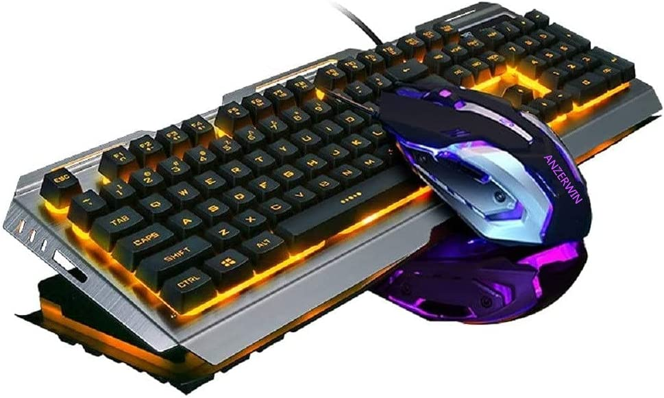 Gaming Selling Keyboard Orange Backlit and Color Rainbow Combo Cha Mouse Ranking TOP15