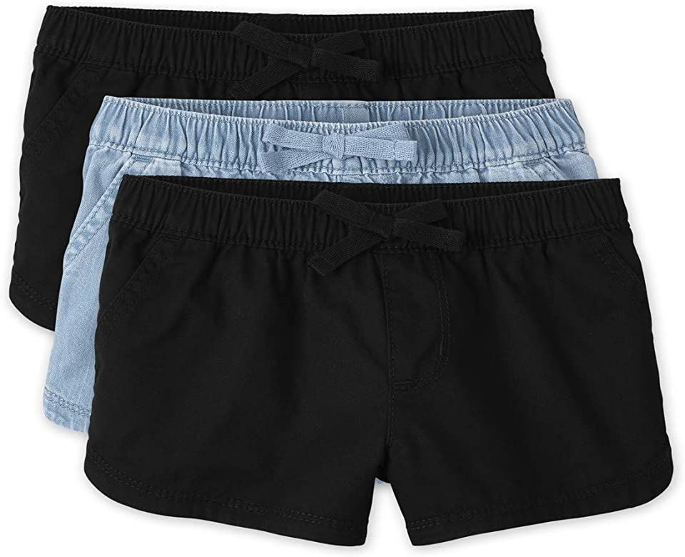 The Children's Place Toddler Girls Pull On Shorts 3-Pack